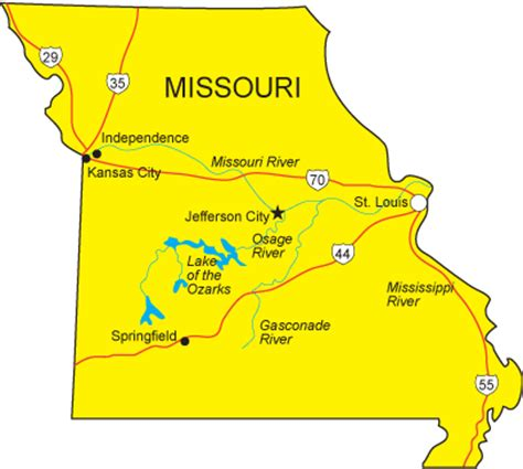 Of Missouri Finder Mo Map Missouri State Map