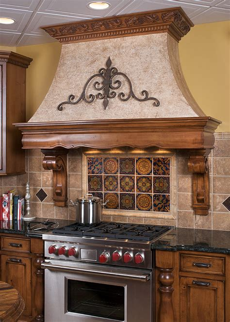 kitchen stove hoods design mullet cabinet tuscan inspired kitchen