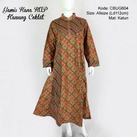 Gamis Batik Dress Batik Hana gamis hana batik hap motif kawung gamis batik murah