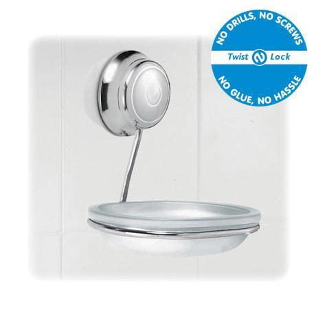 Twist And Lock Bathroom Accessories Croydex Twist N Lock Soap Dish And Holder Chrome At Plumbing Uk
