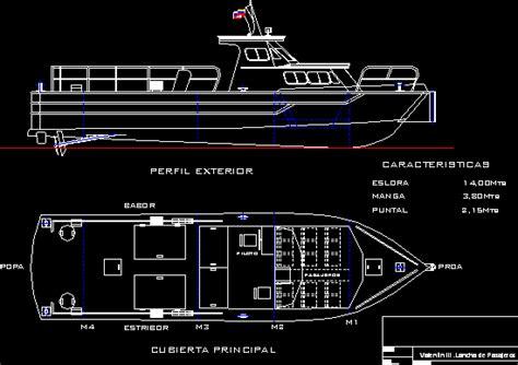 passenger boat  autocad  cad   kb