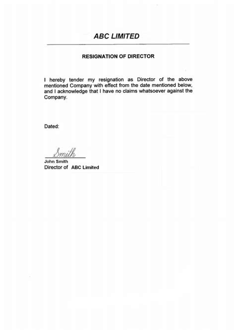 director letter of resignation islands offshore zones offshore and