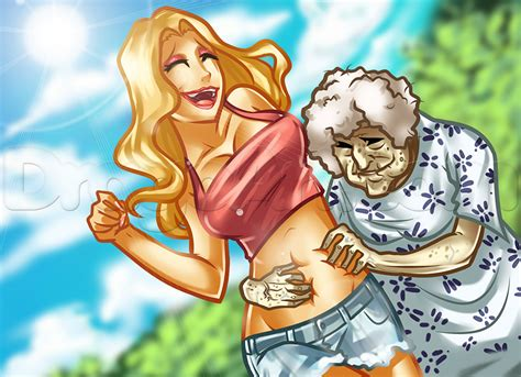 5 Anime To With Your Grandparents by How To Draw A And Grandmother Step By Step Figures