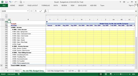 Accounting Budget Template delegate budgeting to the appropriate managers using