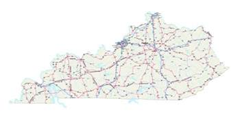 State Of Kentucky Map by Kentucky Maps Kentucky Map Kentucky State Map
