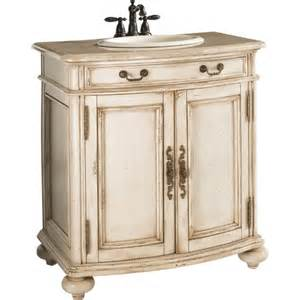 Estate by rsi 29 1 2 quot antiqued white vintage bath vanity with top item