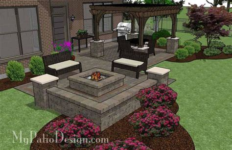 patio designs with pit pit patio design with pergola downloadable