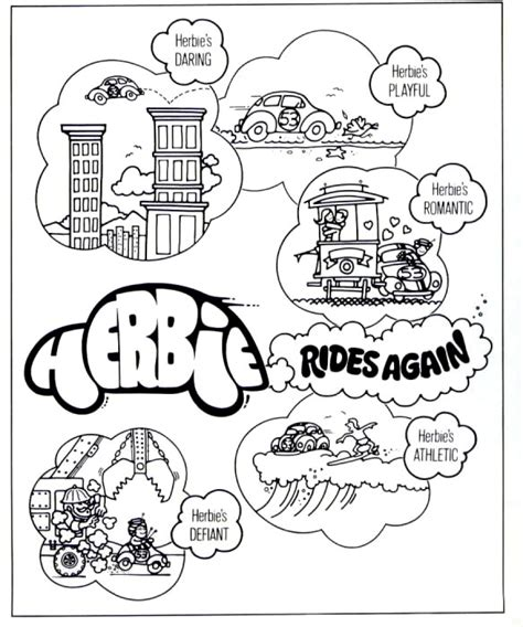 Herbie Fully Loaded Coloring Page Coloring Pages Herbie Coloring Pages