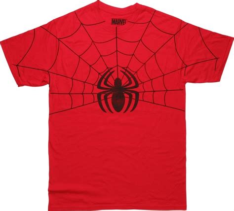 Kaosbajut Shirtspiderman Logo half web spider logo distressed t shirt