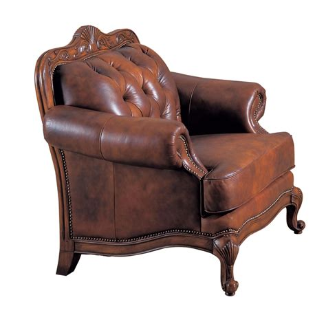 traditional button tufted victoria traditional button tufted genuine leather chair