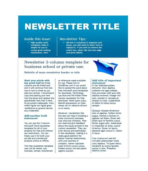 School Newsletter Templates Free by 50 Free Newsletter Templates For Work School And Classroom