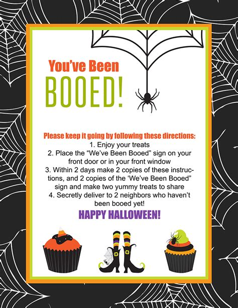 printable boo directions you ve been booed printable lil luna