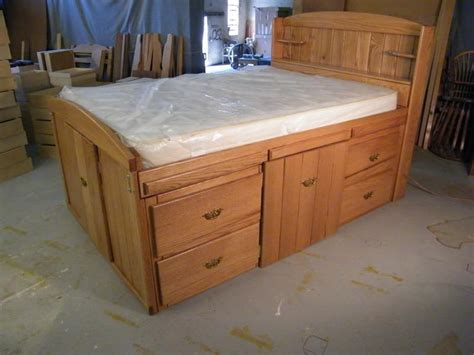 full bed frame with drawers full size bed plans with drawers pdf woodworking