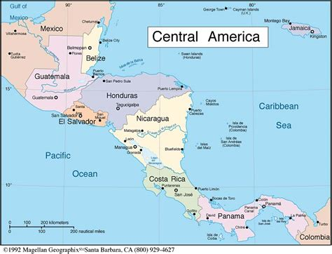 south america map and central america central south america map