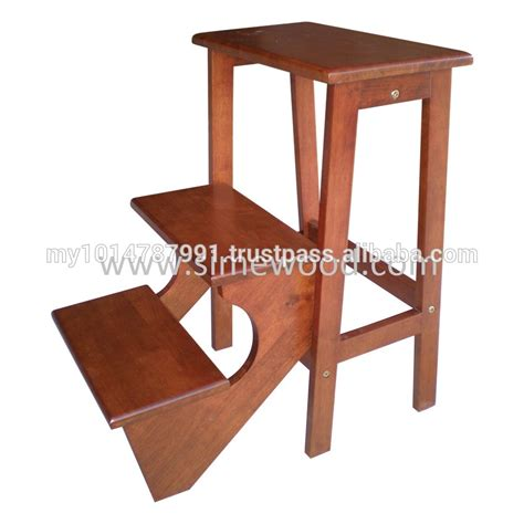 Foldable Wooden Step Stool by Wooden Foldable Step Stool Chair Ladder Utility Stool