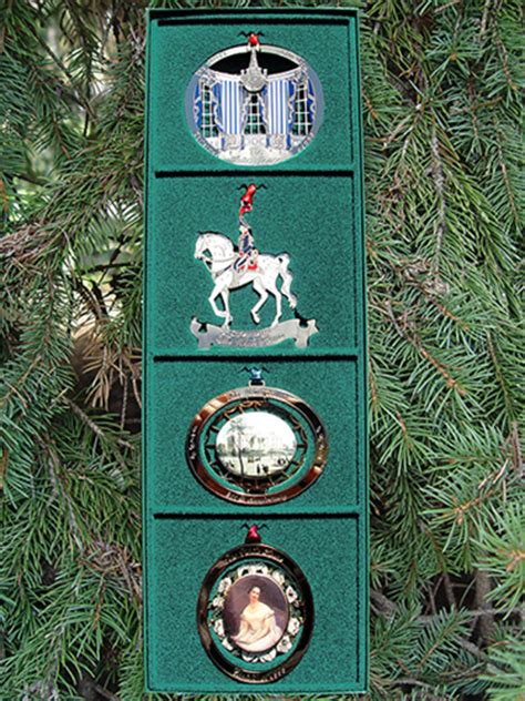 1980 white house christmas ornament 1990 1993 set of four ornaments