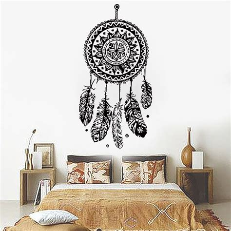 home decor vinyl wall art 112x56cm dreamcatcher wall sticker vinyl home decor decals