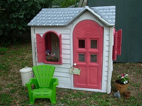 Tikes Pink Cottage by This Is A Make On A Tikes Playhouse I Created