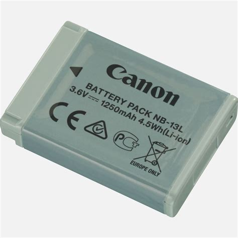battery pack for l buy canon nb 13l battery pack canon uk store