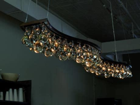Ochre Arctic Pear Chandelier Arctic Pear Chandelier Wave 200cm Featuring A Patinated Bronze Of Nickel Frame With