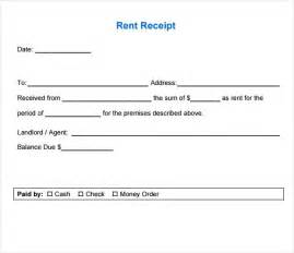 template of receipt 7 rent receipt templates free sles exles format