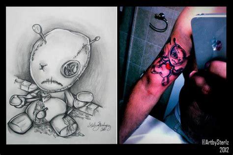 voodoo doll tattoo design by antonsterling on deviantart
