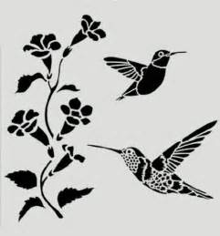 paper hummingbird template hummingbird stencil hummingbirds flowers bird birds