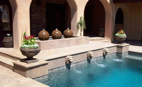 Waterfall Decoration For Homes cool swimming pool water fountain homesfeed