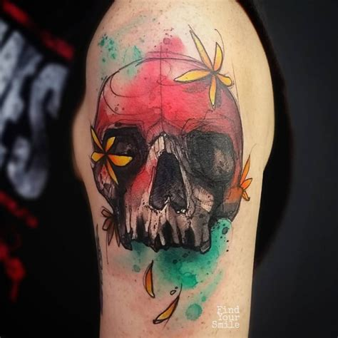 watercolor tattoo skull 59 brilliant reasons to get watercolor tattoos tattoomagz