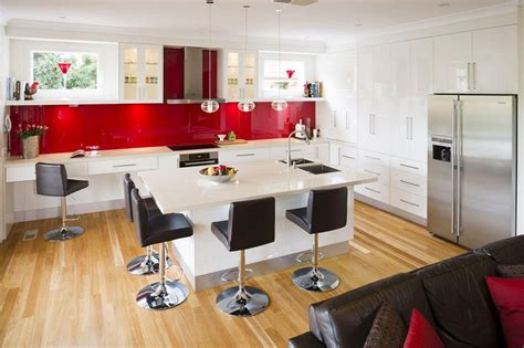 red kitchen design ideas black and white kitchen design for your best home