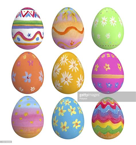 easter egs set of hand painted easter eggs stock photo getty images