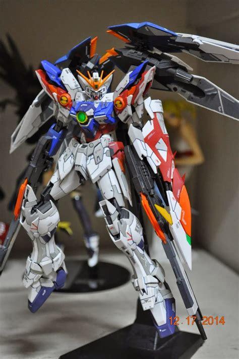 Custom Wing Effect Mg Strike Freedom Fbm Gundam 1 100 custom build mg 1 100 wing gundam proto zero ew ver