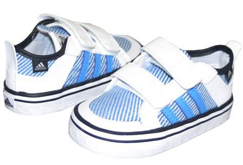 new adidas boys white blue trainers size 4 5 6 7 8 ebay