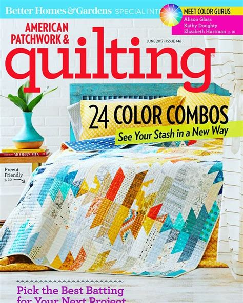 American Patchwork Magazine - american patchwork and quilting wavelength quilt color