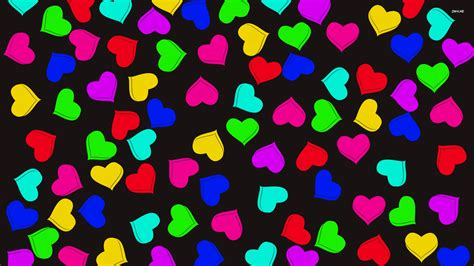 colorful hearts colorful hearts wallpaper vector wallpapers 1097