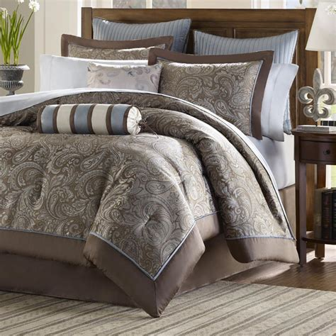 paisley pattern 12 piece reversible comforter set