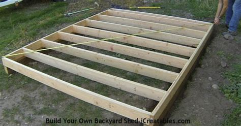 how to build a floor how to build a shed storage shed building instructions