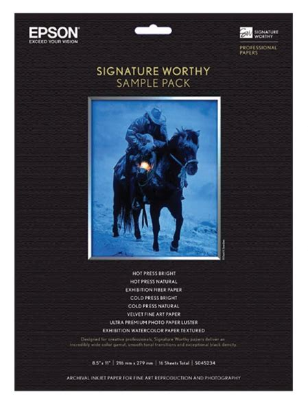 Worthy Clicks 8 by Epson Signature Worthy Sle Pack 8 5x11 14 Sheets