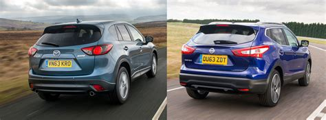nissan mazda nissan qashqai vs mazda cx 5 side by side uk comparison