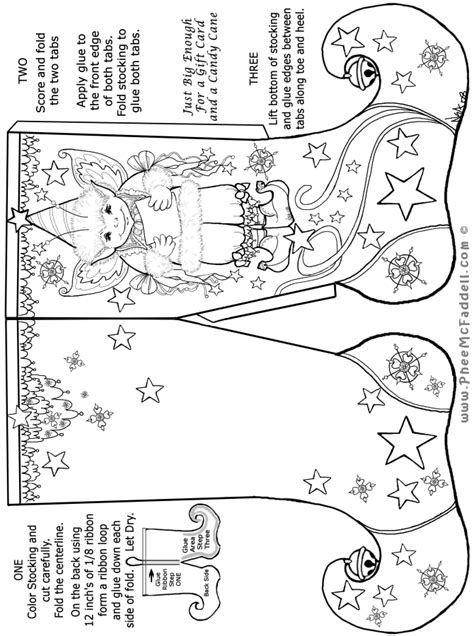 elf stocking coloring pages elf stocking christmas craft page