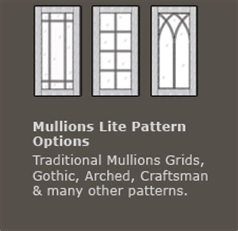 Mullion / Muntin Designs for Cabinet Door Frames with