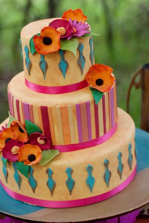 Colourfull Cake colorful wedding cakes arabia weddings