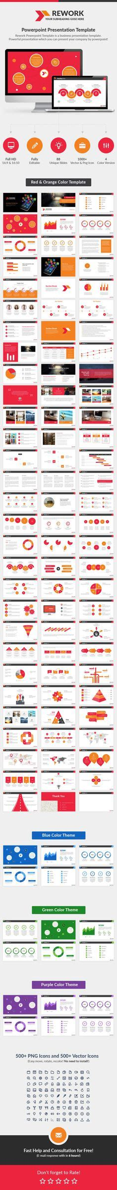 rework template business report powerpoint template powerpoint templates