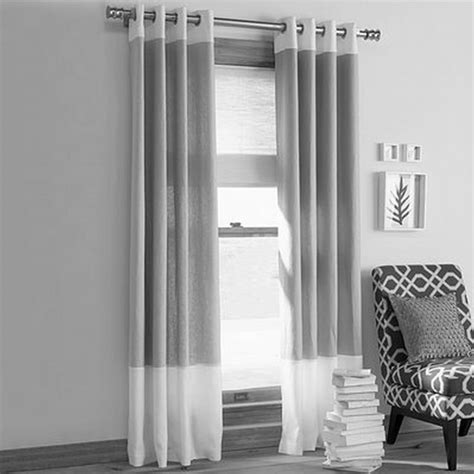 Modern Fabrics For Curtains Inspiration Contemporary Living Room Decorating Ideas With Fancy Gray Fabric Curtains For Modern