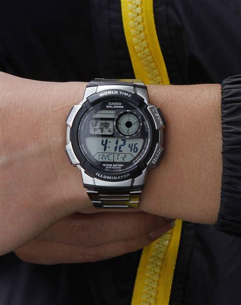 Jam Tangan Casio F 200w 1a Original Bergaransi jual jam tangan casio ae 1000wd 1avdf original stainless