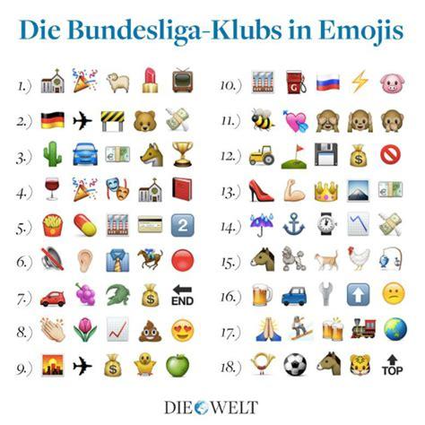 cadenas de whatsapp nombres os 18 clubes da bundesliga em emojis consegue descobrir
