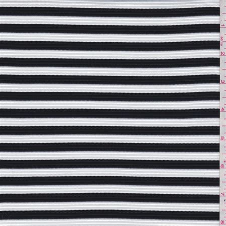 ottoman fabric by the yard black white stripe ottoman knit fabric sold by the