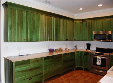 Distressed Blue Kitchen Cabinets Green Kitchen Cabinets In Appealing Design For Modern