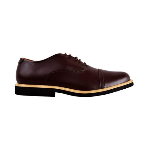 Boots Oxford Kulit Brown sepatu formal oxford fstp brown moi