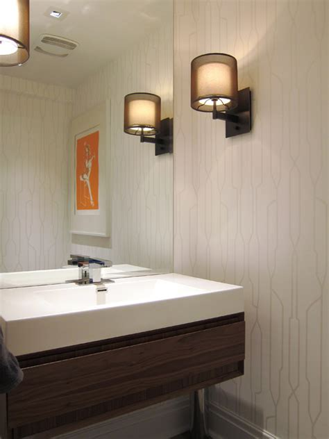 Houzz Small Bathroom Ideas by Modern White Powder Room Modern Powder Room Toronto